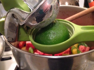 A citrus juicer helps make juicing easier.