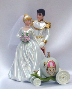 5-30-14 Princess Wedding Cake Topper