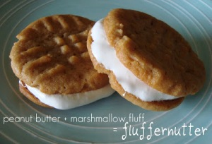 fluffernutter sandwich cookie